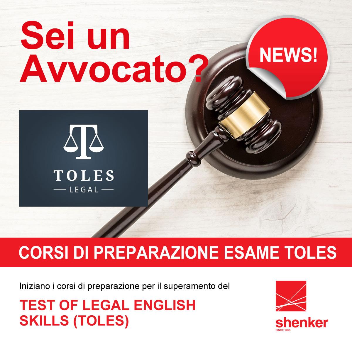 Corsi di preparazione esami TOLES per avvocati