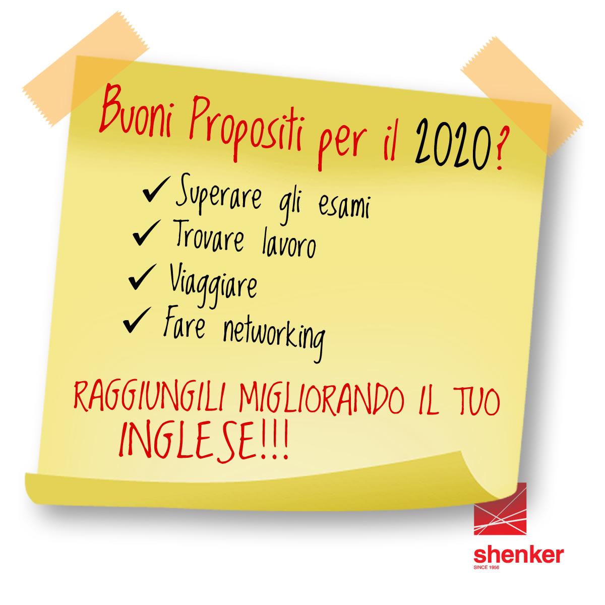 Shenker buoni propositi 2020